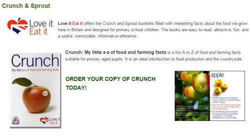 Crunch: My little a-z of food and farming facts | Teaching