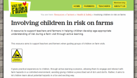 Safe farm visits: involving children in risk on farms