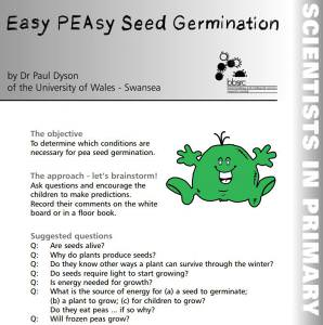 Easy PEAsy seed germination