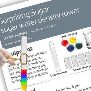 Sugar water density tower