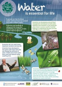 BBSRC Science on the Farm poster - WATER
