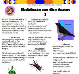 Habitats on the farm 1