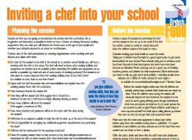 Inviting a chef into your school