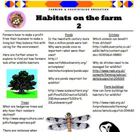 Habitats on the farm 2
