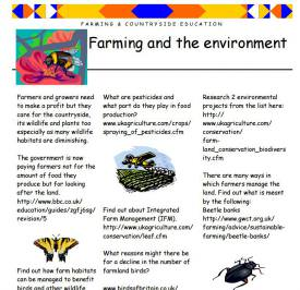 Farming and the environment
