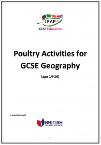 Poultry Activities for GCSE Geography