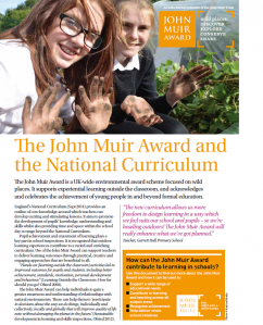 John Muir Award and the National Curriculum