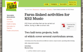 Farm-linked activities for KS2 Music