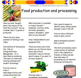 Food production and processing