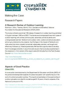 Making the Case - Research papers