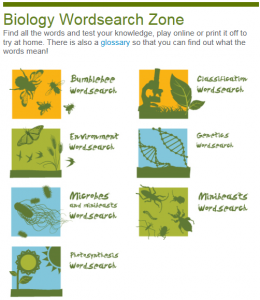 Biology Wordsearch Zone