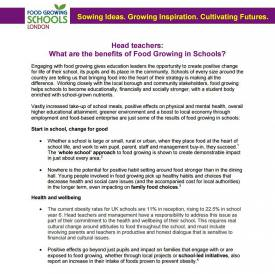 The benefit of food growing in schools