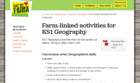 Farm-linked activities for KS1 Geography
