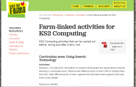 Farm-linked activities for KS2 Computing