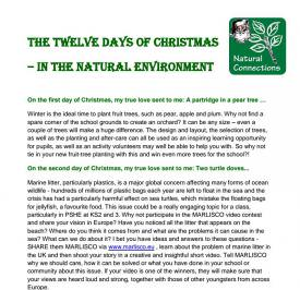 The Twelve Days of Christmas - in the natural environment