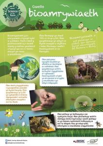BBSRC Science on the Farm poster - BIODIVERSITY (Welsh version)