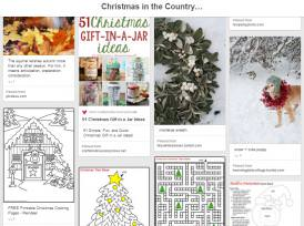 Christmas in the Countryside Pinterest board
