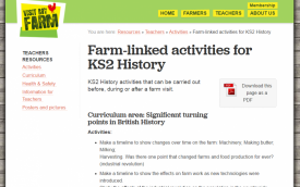 Farm-linked activities for KS2 History