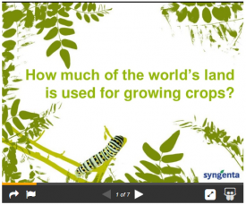How much of the World's land is used for farming?